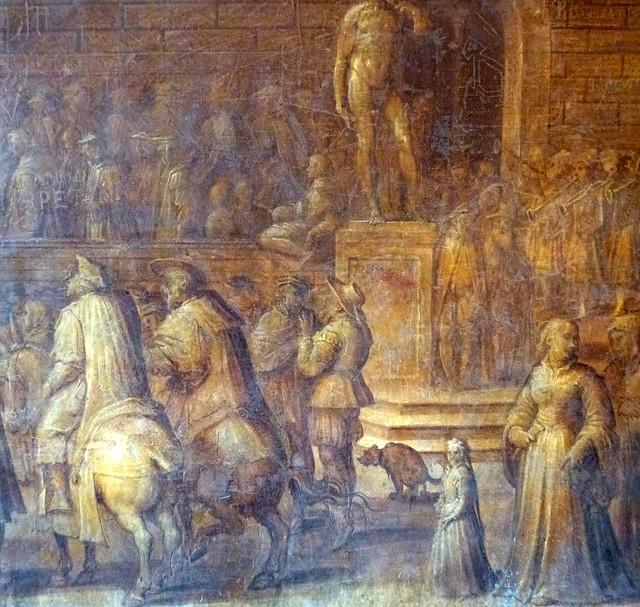 Florence - jour 4 - 021 - Pallazo Vecchio - le chien qui chie