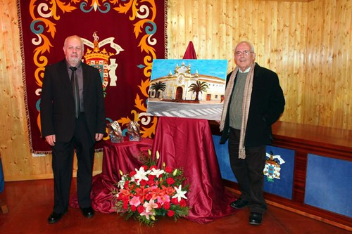 Rafale Cerrejon y Juan M.García Ramos con el premiado cuadro