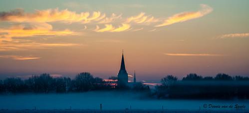winter snow sunrise december sneeuw nederland zeeland 2012 noordbrabant maashorst winter2012