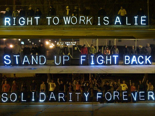 Overpass Light Brigade Solidarity Forever