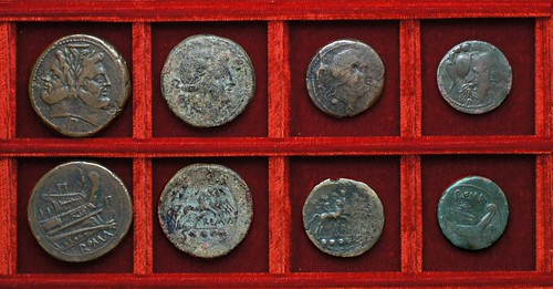 RRC 099 P Luceria bronzes, Ahala collection, coins of the Roman Republic