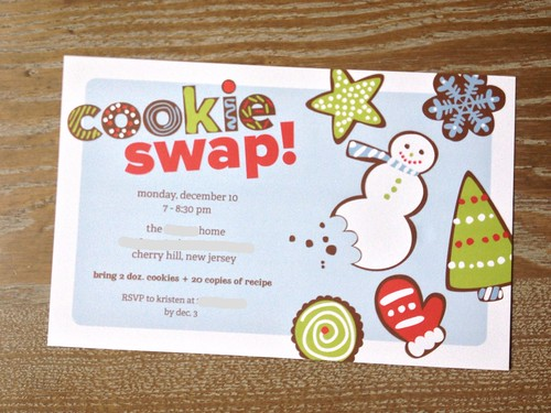 Cookie Swap Invitations