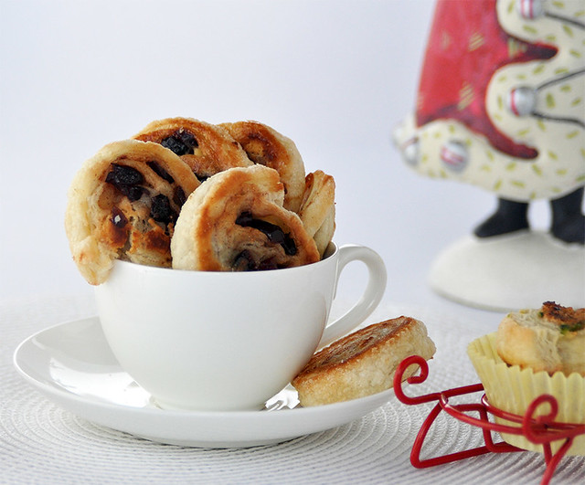 Cranberry and White Chocolate Pastry Swirls