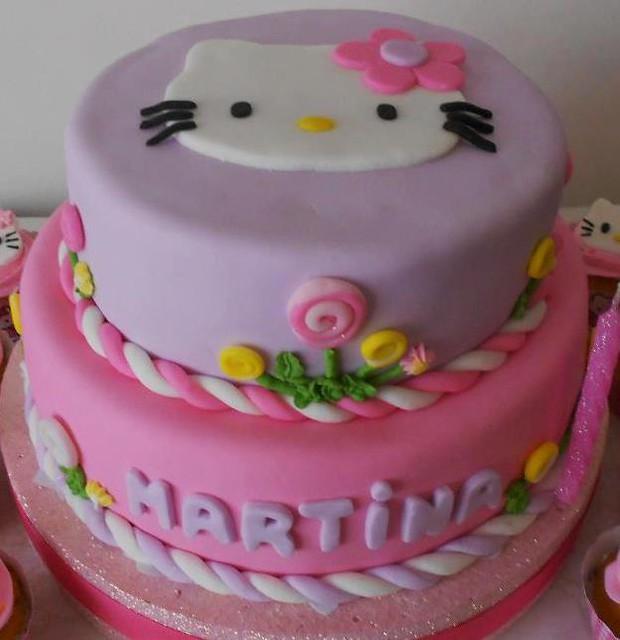 Torta Kitty en dos pisos | Flickr - Photo Sharing!