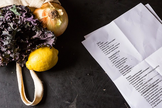 Shopping list from Food52