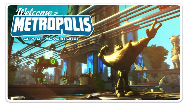 Ratchet & Clank: Full Frontal Assault Metropolis Postcard