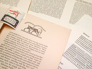 Proofs of unreleased typefaces by WA Dwiggins