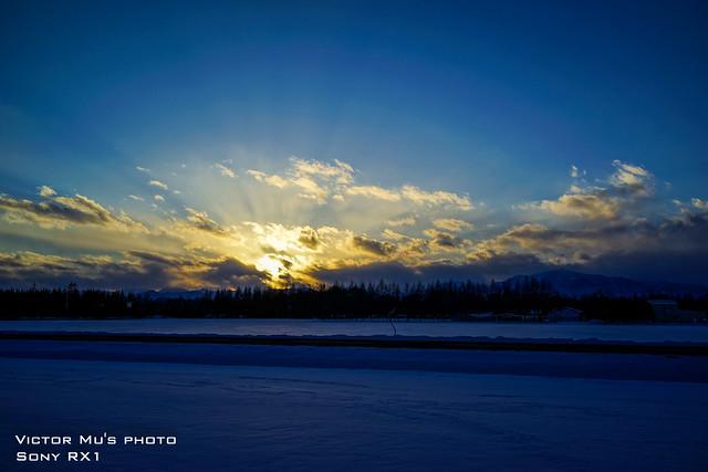 北海道 幸福車站 夕陽