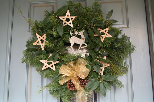 The Wreath I Made for Our Door