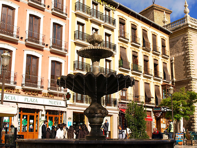 Fountain, Plaza Nueva, Granada