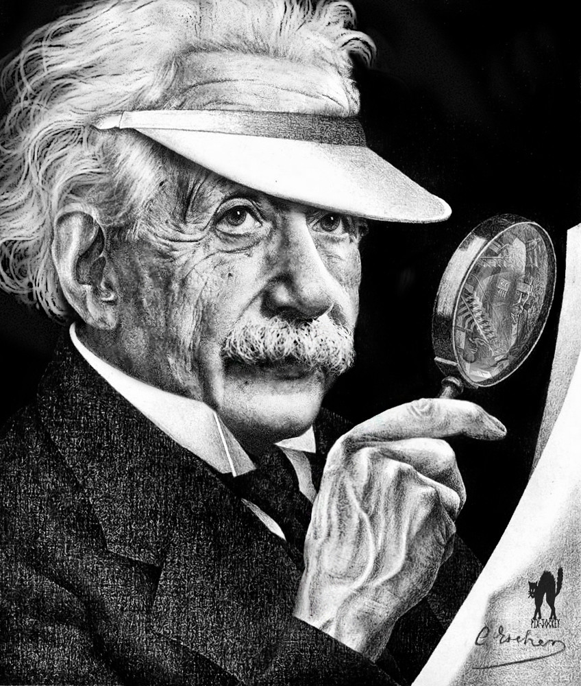 EINSTEIN by ESCHER (my artistic fake!)