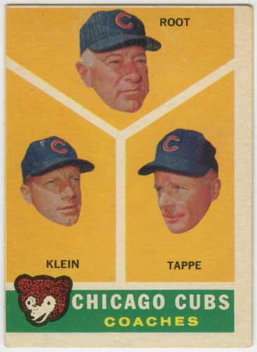 1960 Topps Chicago Cubs Coaches