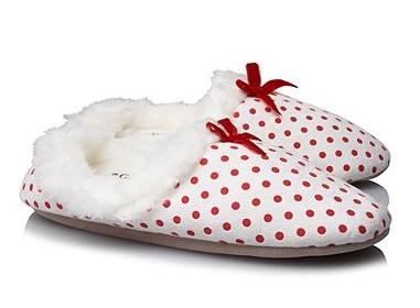 Spot Print Faux Fur Slippers for Girls