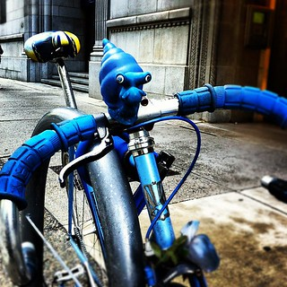 Blue Courier Bike