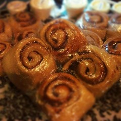 baked goods, cinnamon roll, food, cuisine, snack food, danish pastry,