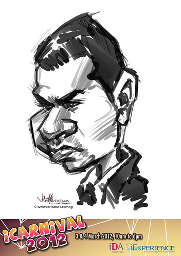 digital live caricature for iCarnival 2012  (IDA) - Day 1 - 51