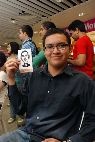 digital live caricature sketching for iCarnival (photos) - Day 1 - 112