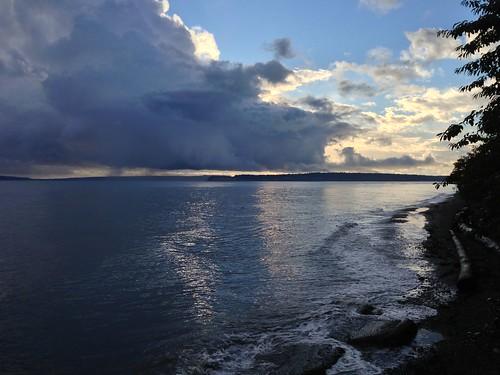 morning beach sunrise porttownsend