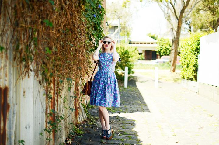 blue pink dress a