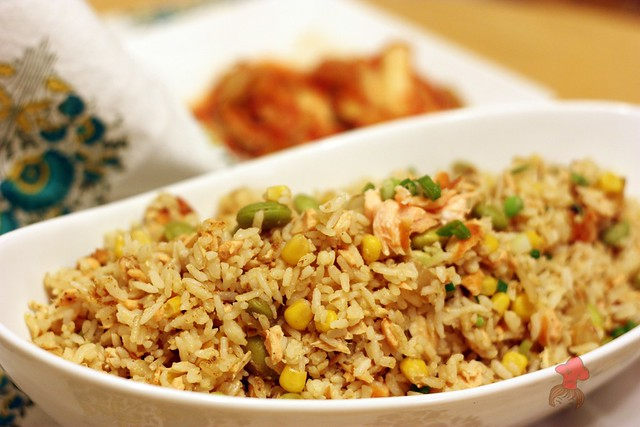 鮭魚炒飯 Salmon Fried Rice 10