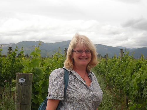 Mum in one of the vineyards in the Marlborough Wine Trail