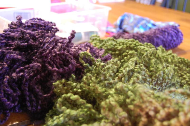 piles of yarn
