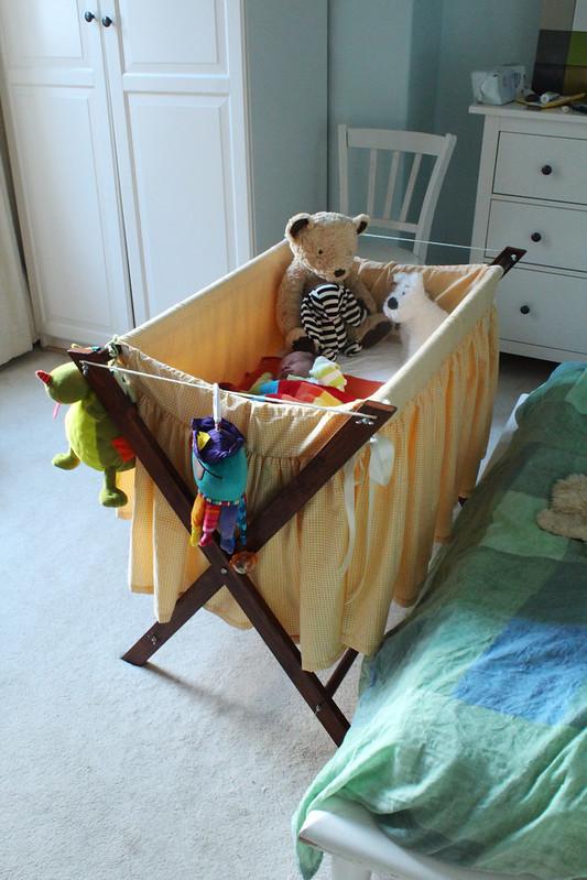 vintage handmade crib