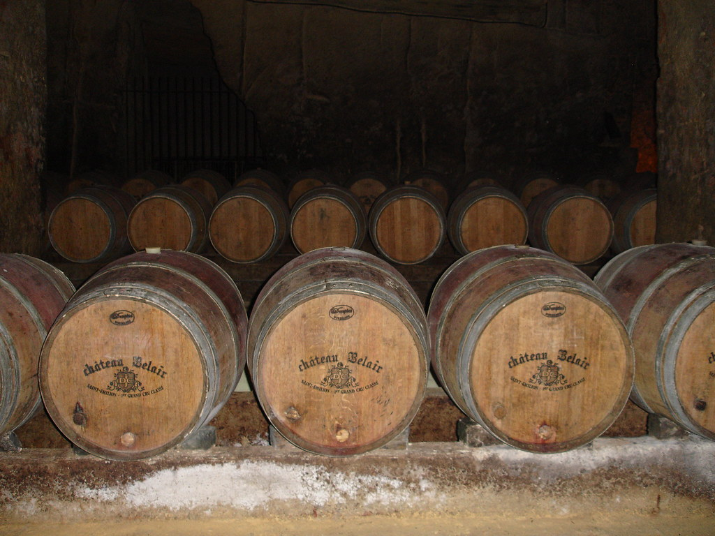 Cheteau Belair Wine Barrels