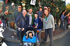 Family photo at Disney Christmas Tree