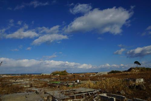 津波の被害があった場所