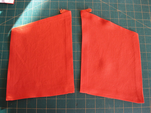 Lily dress in progress - pockets