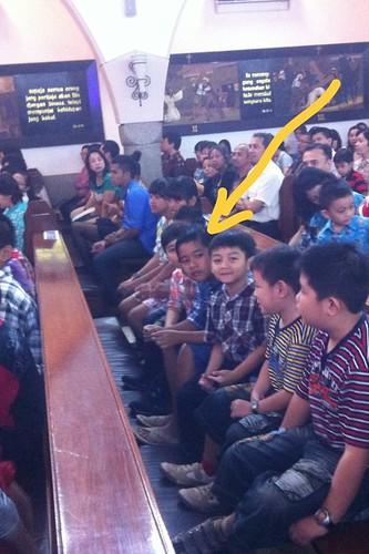 Misa Natal Anak-anak 2012 di Malang