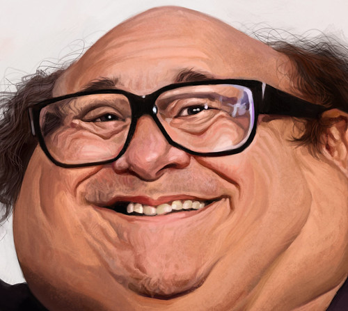 digital caricature painting of Danny DeVito - 4