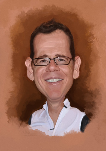 digital caricature of Roy Eita for Hewlett Packard (revised)