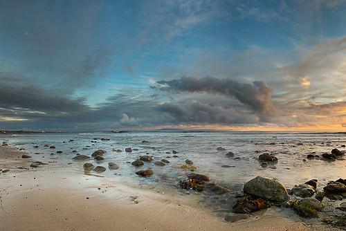california sunset panorama seascape color beach water clouds coast nikon santamonica malibu 2012 d800