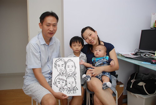 caricature live sketching for birthday party 10032012 - 4