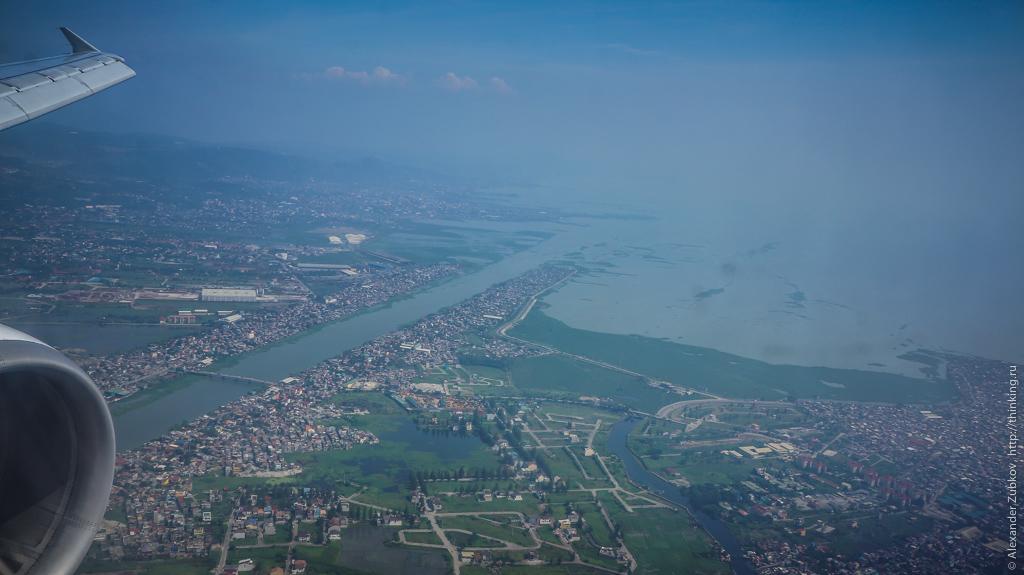 Вид на Манилу из самолете