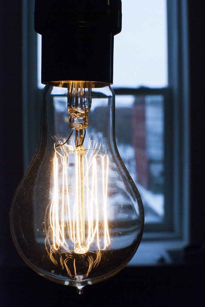 image of light bulb that is on