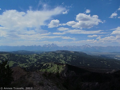 The Teton Range as seen from Mount Leidy, Bridger-Teton National Forest, Wyoming
