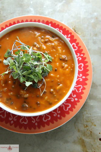 Spicy Tomato Lentil Soup