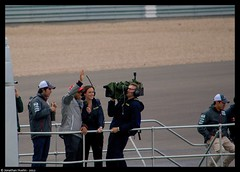 Lewis Hamilton & BBC F1's Lee Mckenzie