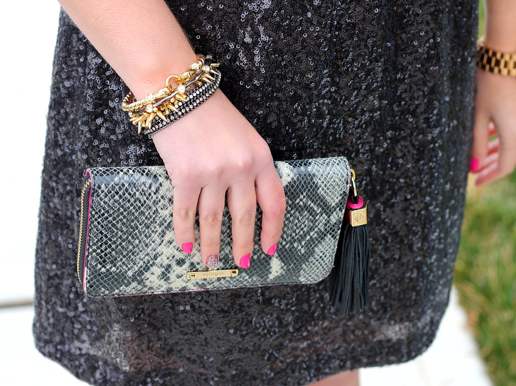 Stella and Dot Snakeprint Clutch