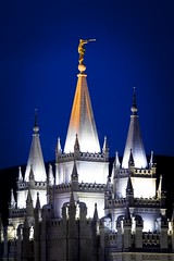Salt Lake Temple - dusk - 5-28-08  03
