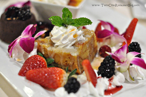 Bread Pudding on Dessert Sampler at Woolley's Steakhouse ~ Bloomington, MN