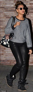 Beyonce Wedge Sneakers Celebrity Style Women's Fashion