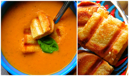 Mrs. Fields Secrets Tomato Soup & Grilled Cheese