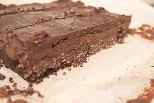 Vegan Gluten-Free Triple Chocolate Nanaimo Bars