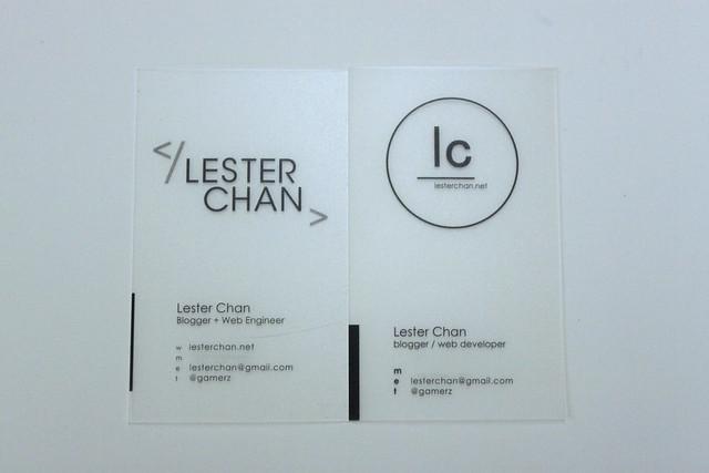 Blogger Name Card 2010 vs 2013