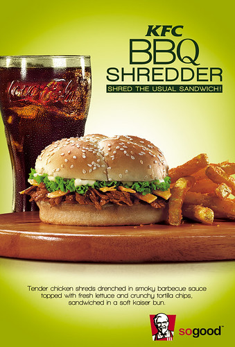 KFC BBQ Shredder Sandwich