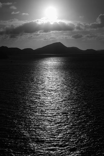 blackandwhite seascape sunrise caribbean stkitts